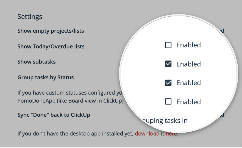 Here you can select ClickUp under integrations