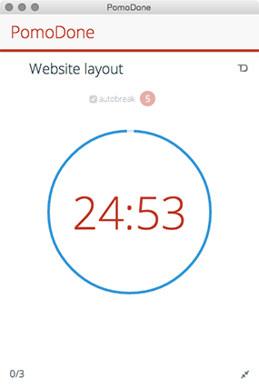 Pomodoro timer for Todoist - PomoDoneApp
